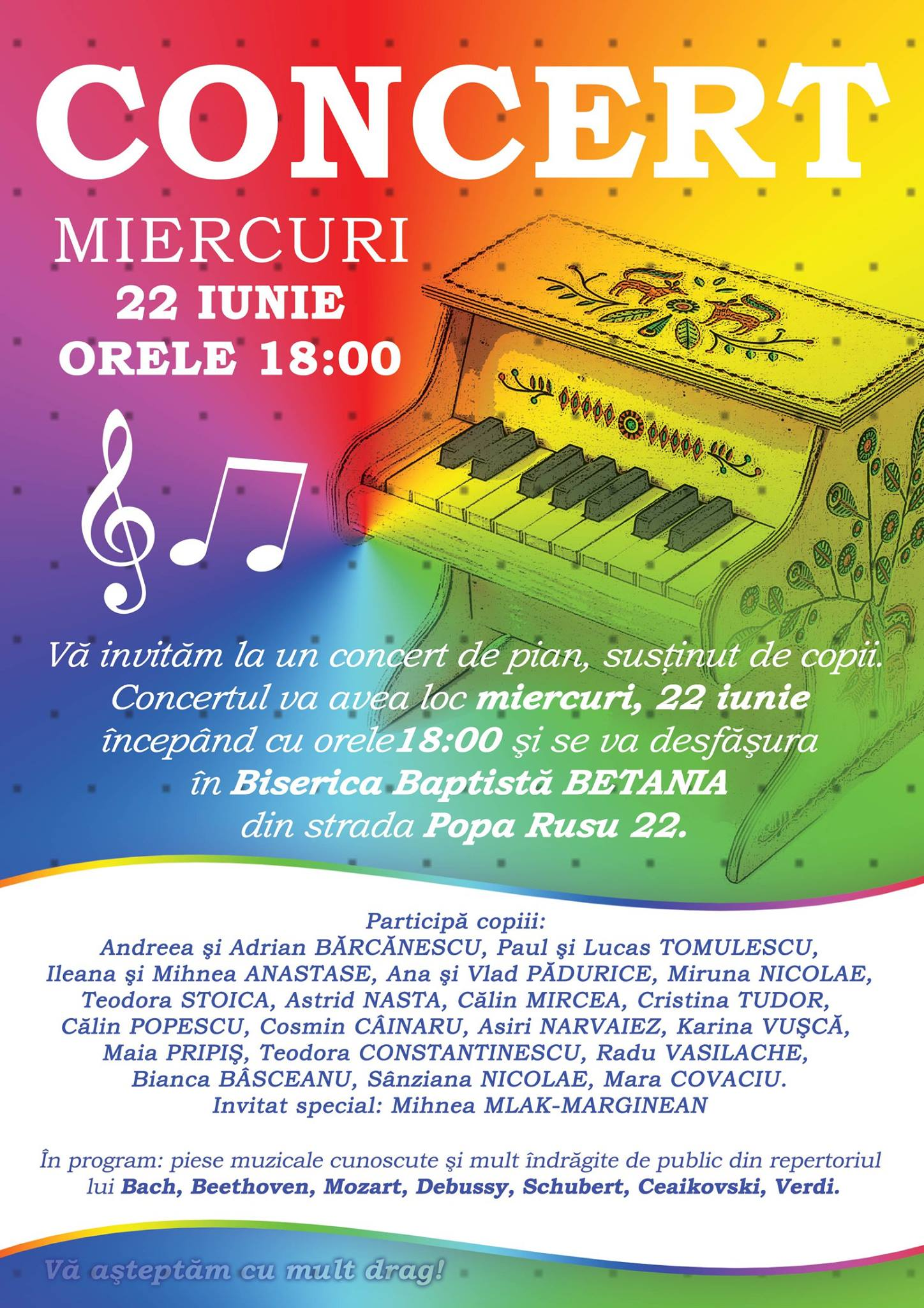 Afiș concert 22 iunie Popa Rusu